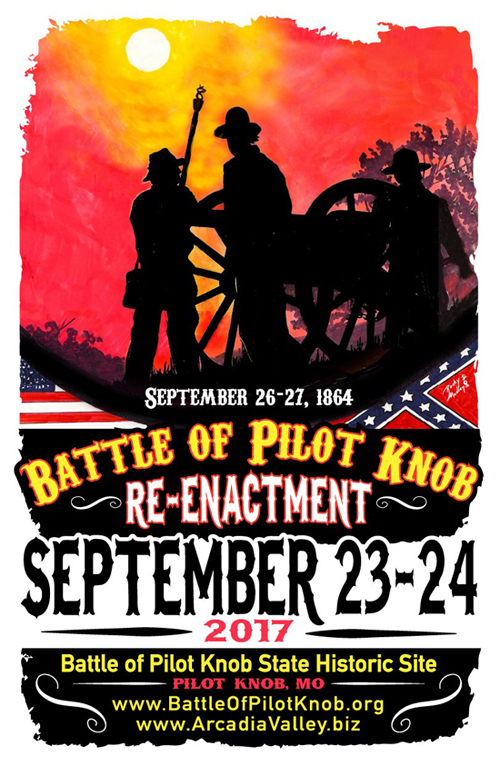 battle of pilot knob reenactment poster - Missouri Vacations