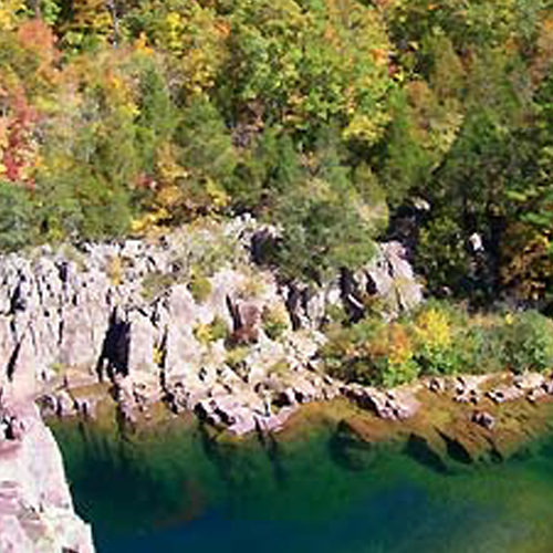 Johnson's shut-ins aerial view - Missouri Vacations