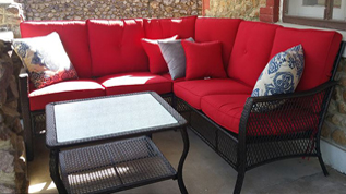 sectional setting on patio - Missouri Vacations