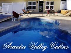 Arcadia Valley Cabins logo - Missouri Vacations