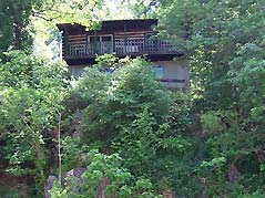 cabin hidden in trees - Missouri Vacations