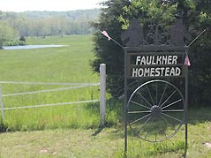 Faulkner Homestead sign - Missouri Vacations