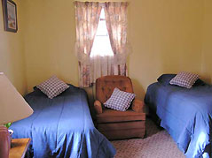 bedroom with two beds - Missouri Vacations