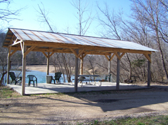 shelter over picnic tables - Missouri Vacations