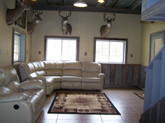 cabin with sofas - Missouri Vacations