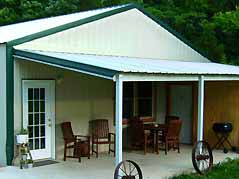cabin annex front porch - Missouri Vacations