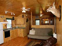 cabin sitting room - Missouri Vacations