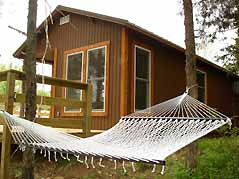 cabin with hammock - Missouri Vacations