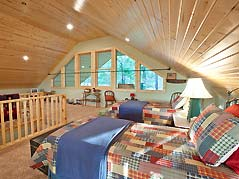 cabin loft with beds - Missouri Vacations