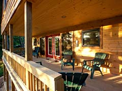 cabin porch - Missouri Vacations