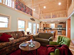 cabin living room - Missouri Vacations