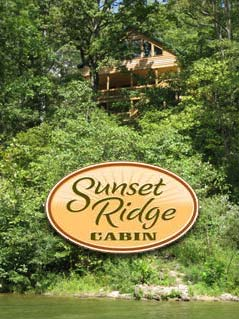 Sunset Ridge cabins logo - Missouri Vacations