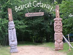 Bearcat Getaway sign - Missouri Vacations