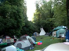 tents in a clearing - Missouri Vacations