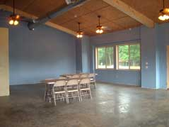 tables in open outbuilding - Missouri Vacations