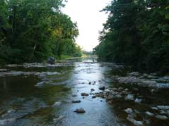 creek with rocks - Missouri Vacations