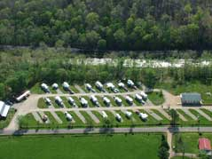 RV campsites aerial view - Missouri Vacations