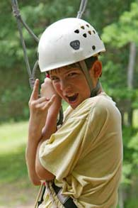 boy on ropes course - Missouri Vacations