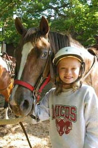 girl with horse - Missouri Vacations