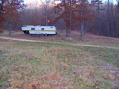 RV parked at campsite - Missouri Vacations