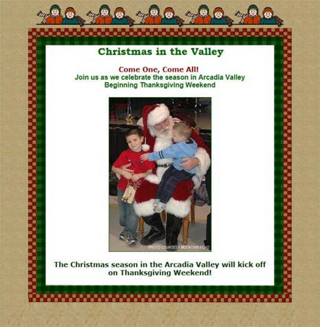 Christmas in the Valley flier - Missouri Vacations