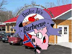 Baylee Jo's BBQ sign - Missouri Vacations