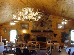 tables in a cabin restaurant - Missouri Vacations