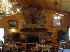 tables in a cabin style restaurant - Missouri Vacations