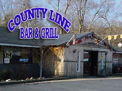 county line bar & grill sign - Missouri Vacations