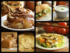 collage of pastries and sandwiches - Missouri Vacations