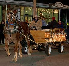 winter horse and carriage - Missouri Vacations