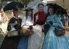 women in 1800s dresses - Missouri Vacations