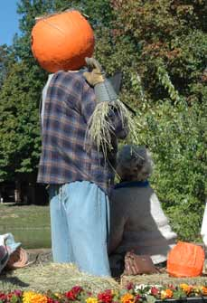 scarecrow with pumpkin head - Missouri Vacations