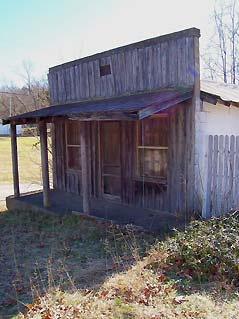 old false front wooden store building - Missouri Vacations