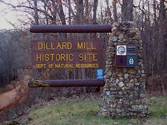 dillard mill sign - Missouri Vacations