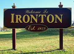 ironton sign - Missouri Vacations