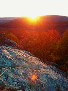 sunset in mark twain forest - Missouri Vacations