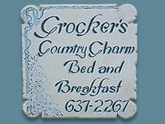 Crocker's Country Charm Bed and Breakfast sign - Missouri Vacations