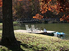 dock on pond - Missouri Vacations
