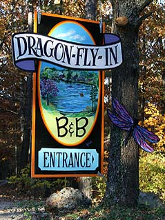 Dragon-Fly-In sign - Missouri Vacations