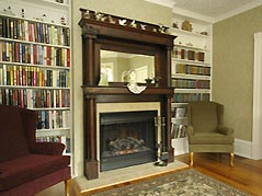 fireplace and library - Missouri Vacations