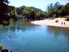 river and gravel bar - Missouri Vacations