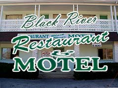 Black River Restaurant & Motel sign - Missouri Vacations