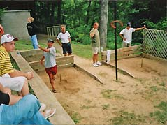 people playing horseshoes - Missouri Vacations
