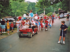 children in a parade - Missouri Vacations
