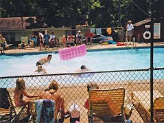 people playing at a pool - Missouri Vacations