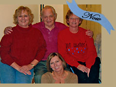 Ries family with an older gentleman and three middle-aged women - Missouri Vacations