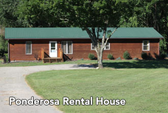 exterior view of ponderosa rental house - Missouri Vacations