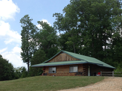 cabin with green roof - Missouri Vacations