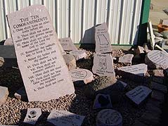 10 Commandments engraved on stone slab - Missouri Vacations
